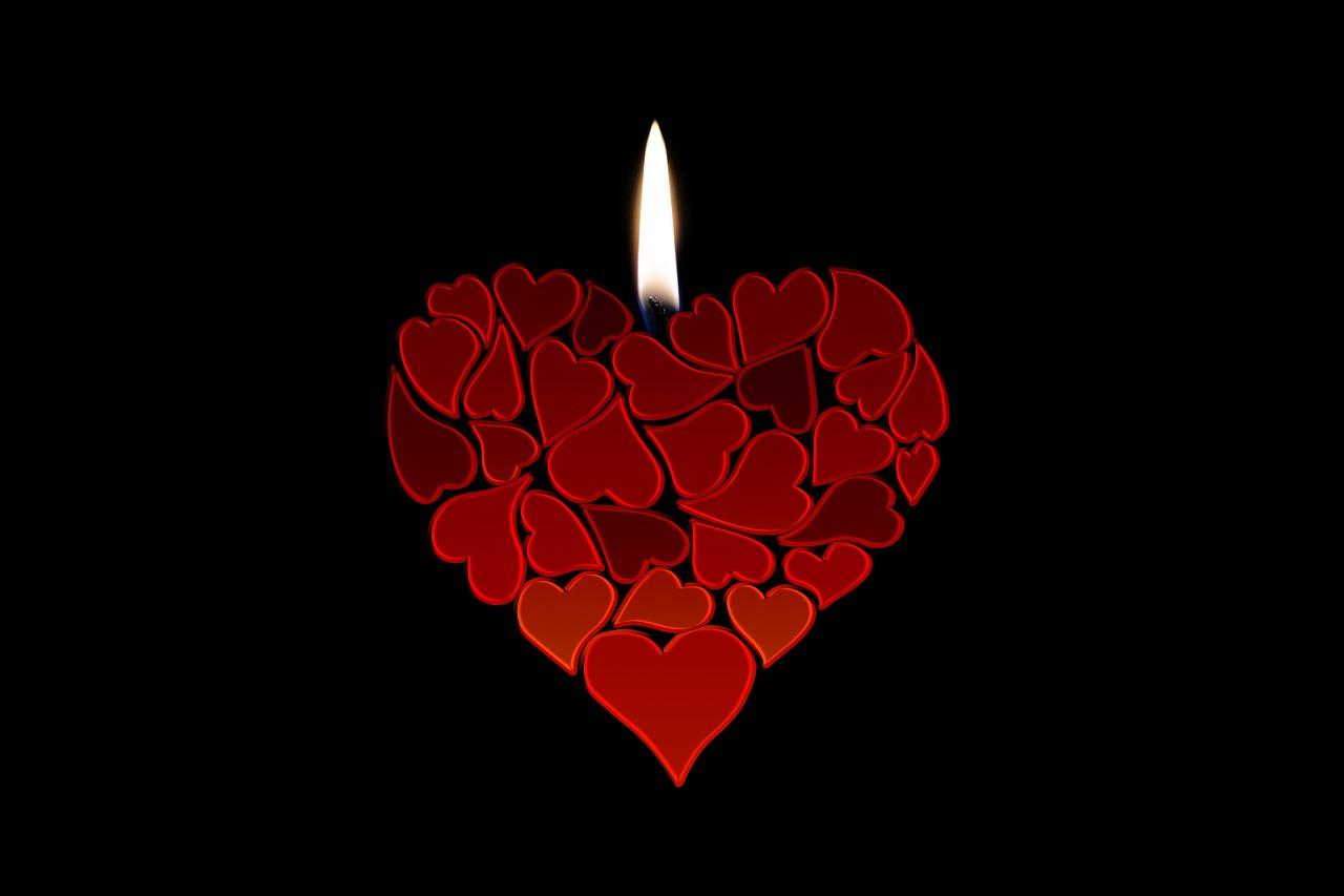svíčka srdce